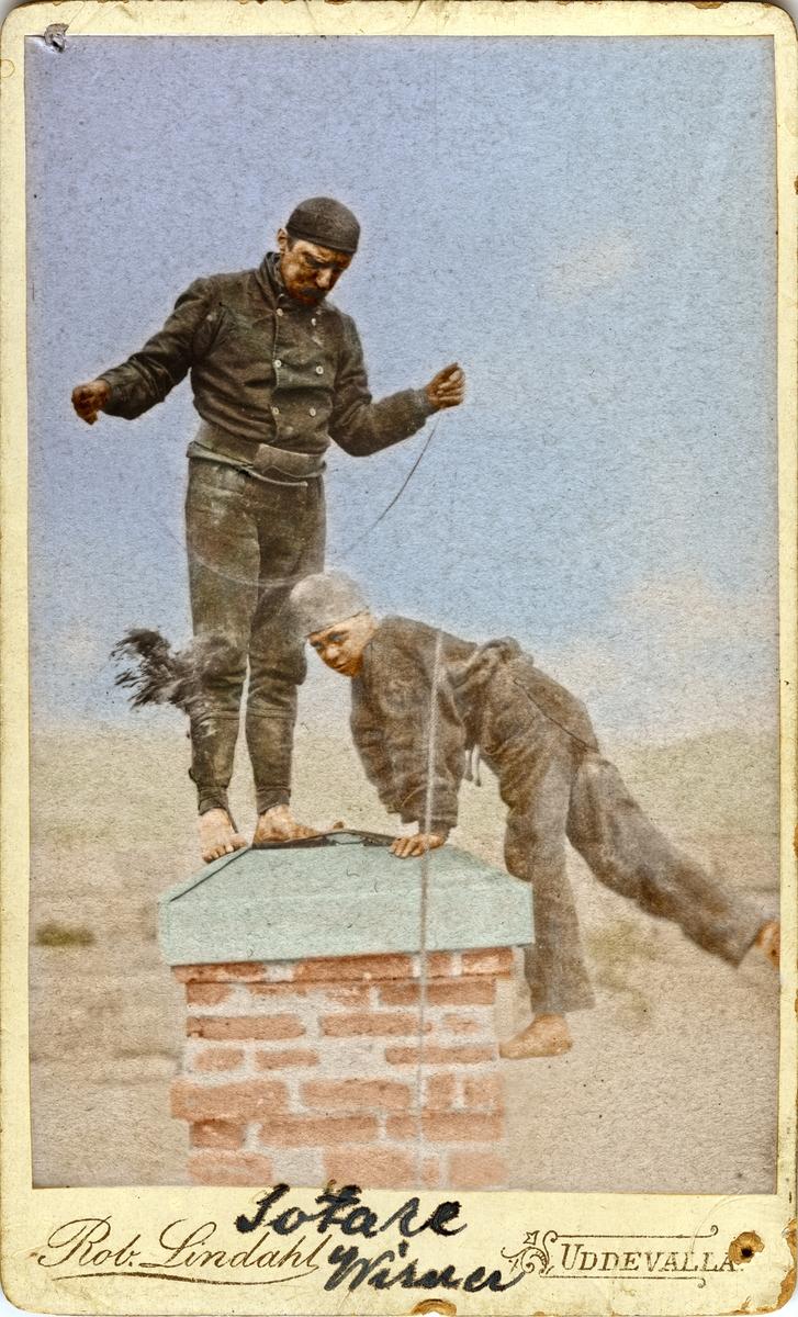 Skorstensfejaremästaren Wiesner med sotarpojke