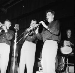 """Vardens arkiv. """"Byfor. arrangert i Brekkeparken""""  26.05.1954"""