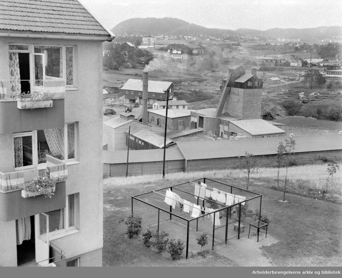 A/S Norsk Lecas fabrikk på Hovin. September 1959.