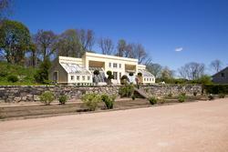 Drivhus vid Gunnebo slott som återskapades 1996-1999 efter g