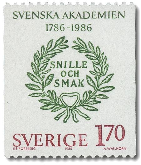 Svenska Akademins valspråk Snille och smak.