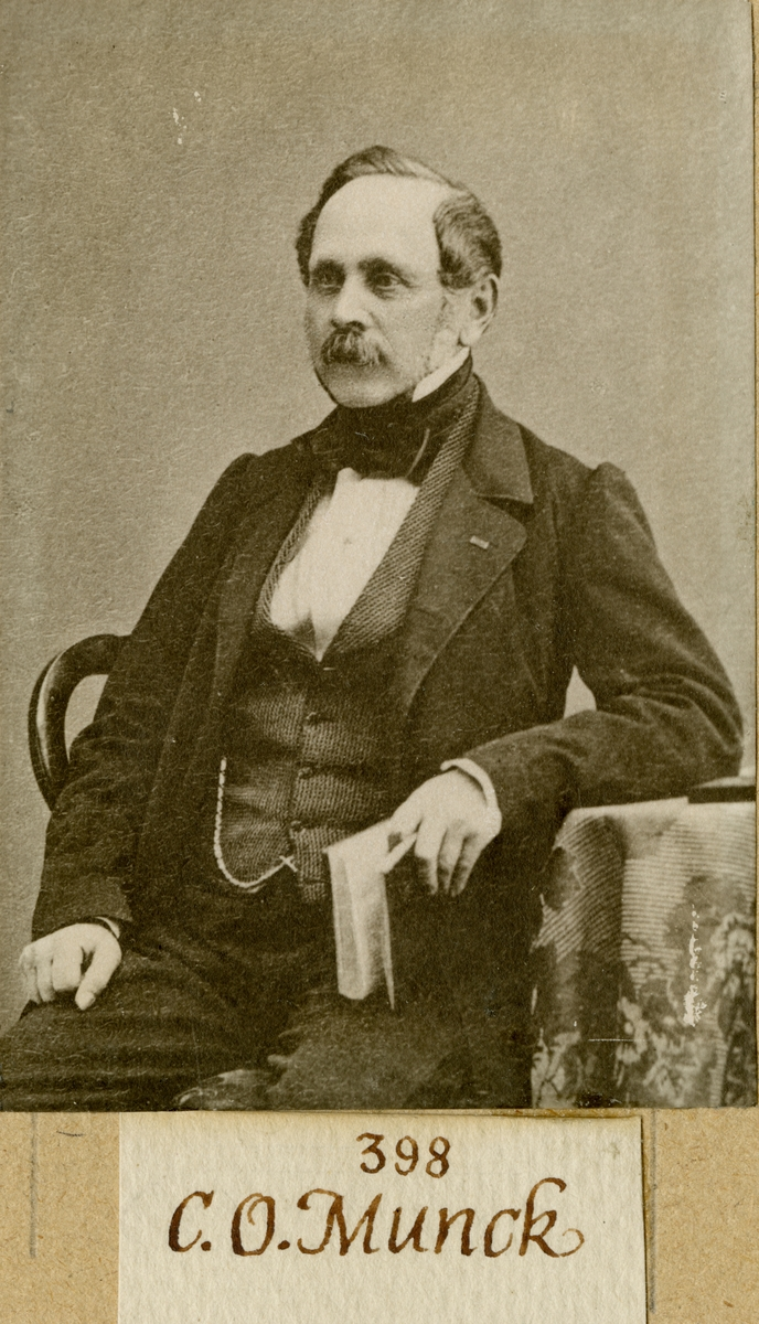 Porträtt av Carl Otto Munck, kapten vid Andra livgardet I 2.