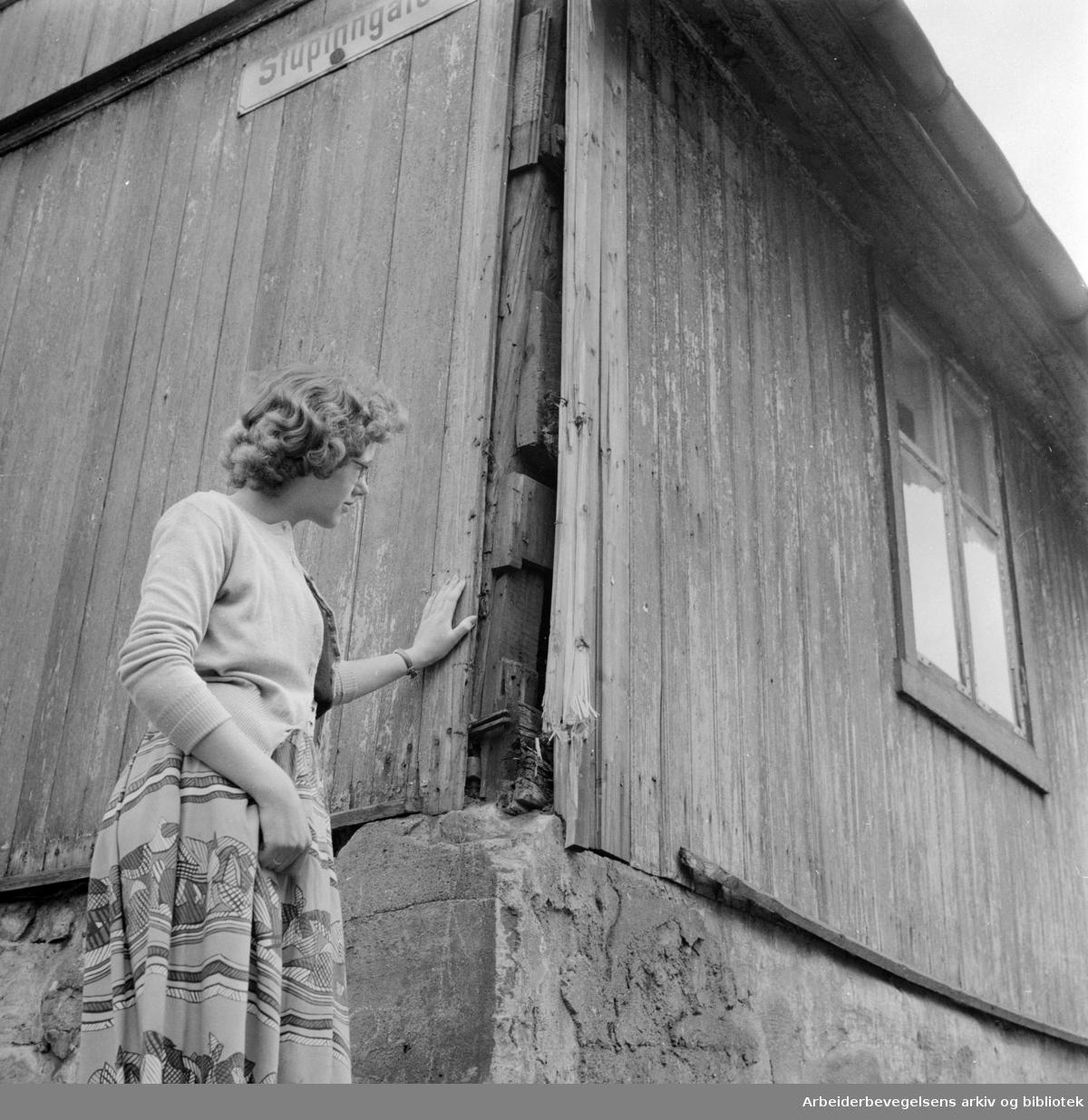 Enerhaugen: Stupinngata. .Juni 1958.