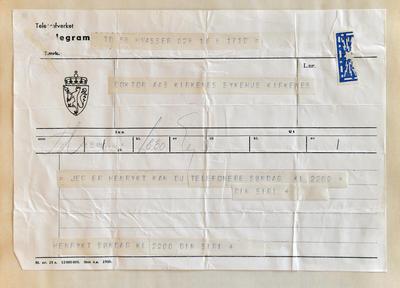 Radiostasjon Ny-Ålesund telegram 2