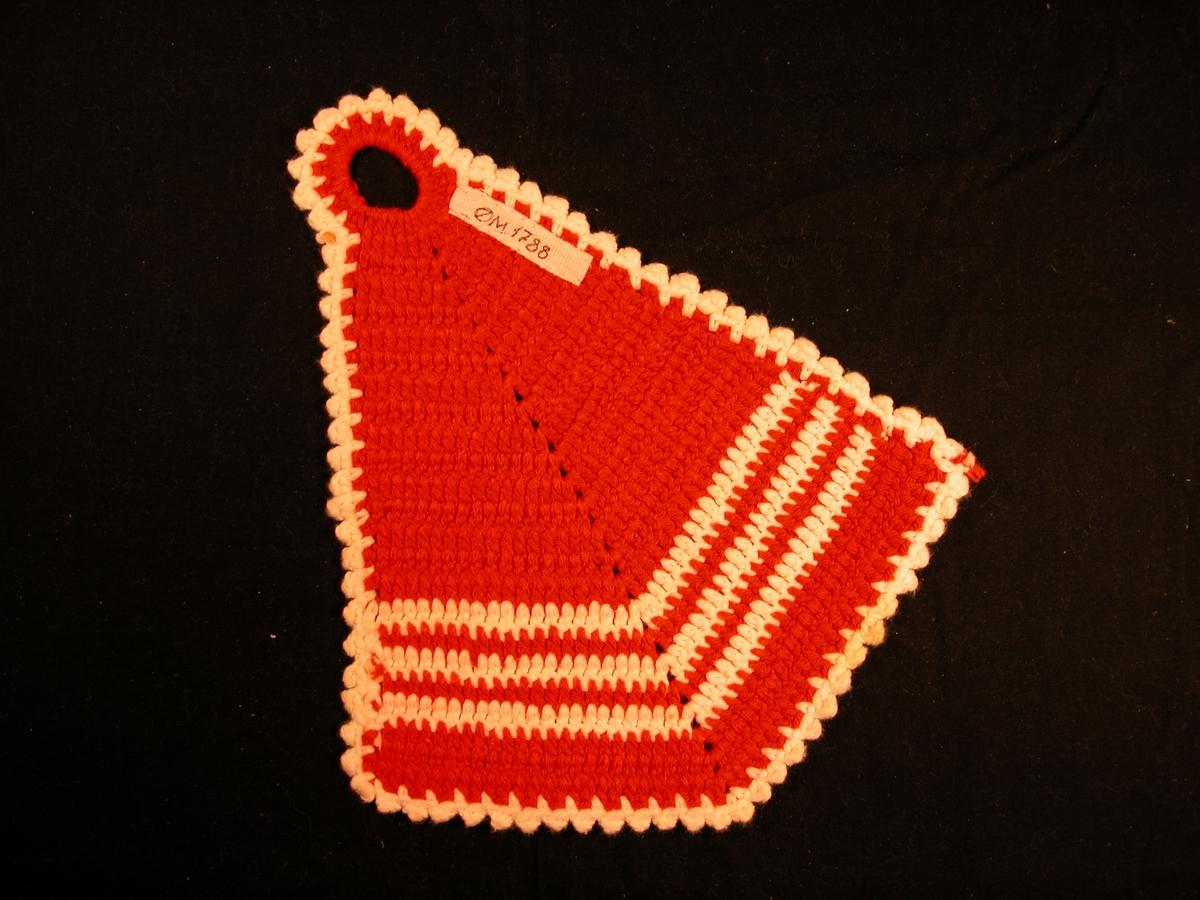 Form: To samanhekla trekantar med hank