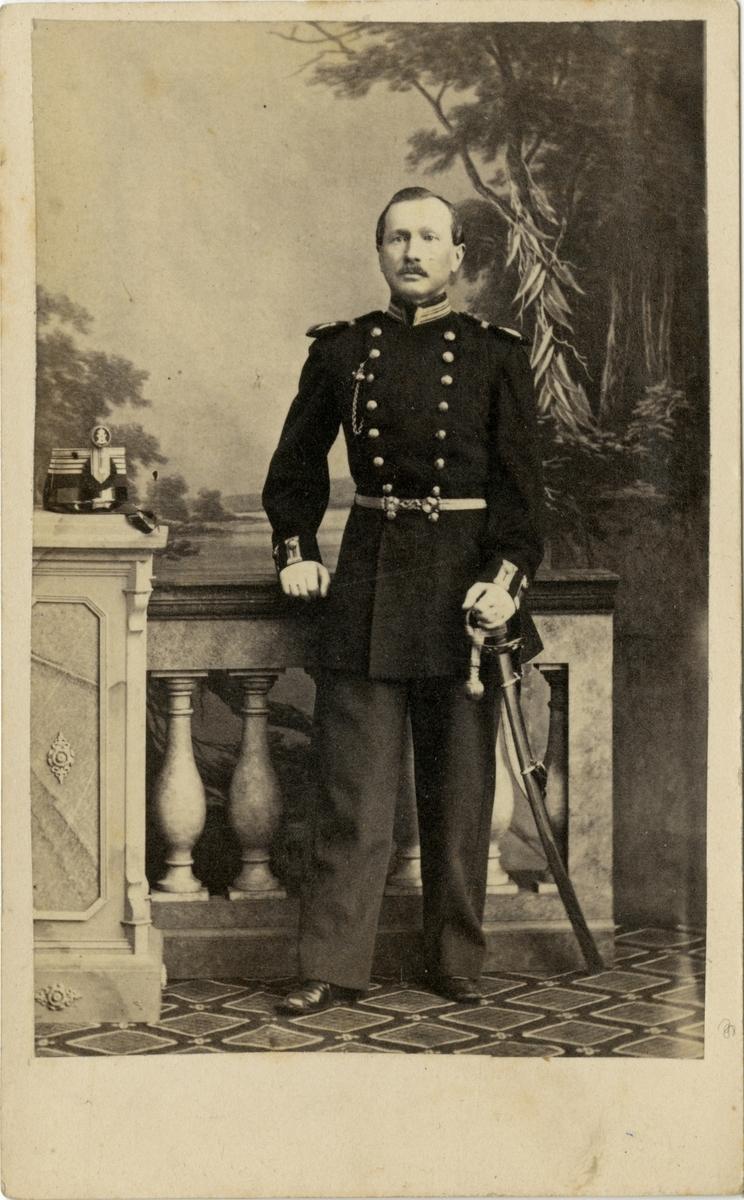 Porträtt av Valdemar Anselm Gotthard Nisbeth, kapten vid Upplands regemente I 8.