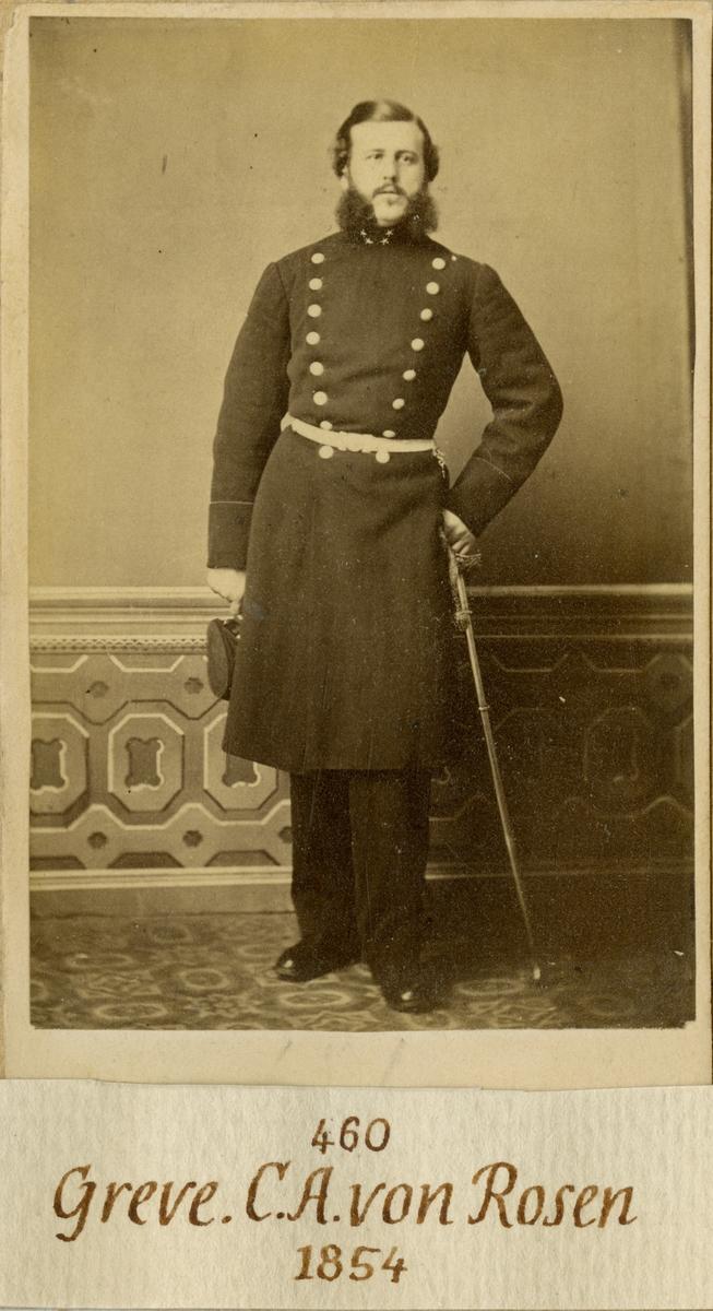 Porträtt av Conrad August von Rosen, löjtnant vid Andra livgardet I 2.  Se även bild AMA.0008355.