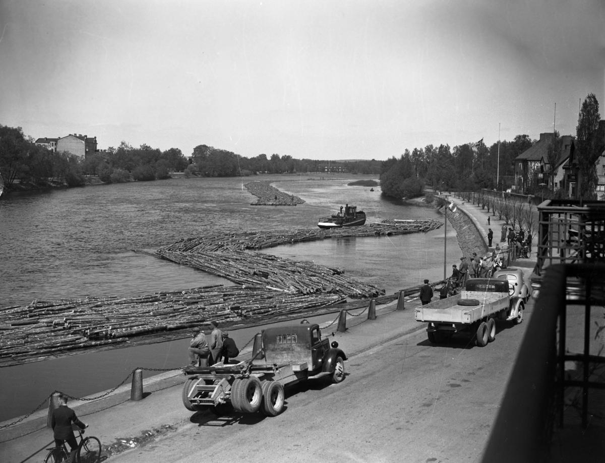 Buntflottning i älven år 1938.