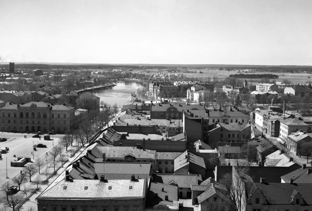 Vy från domkyrkan västerut i början av 1940-talet.