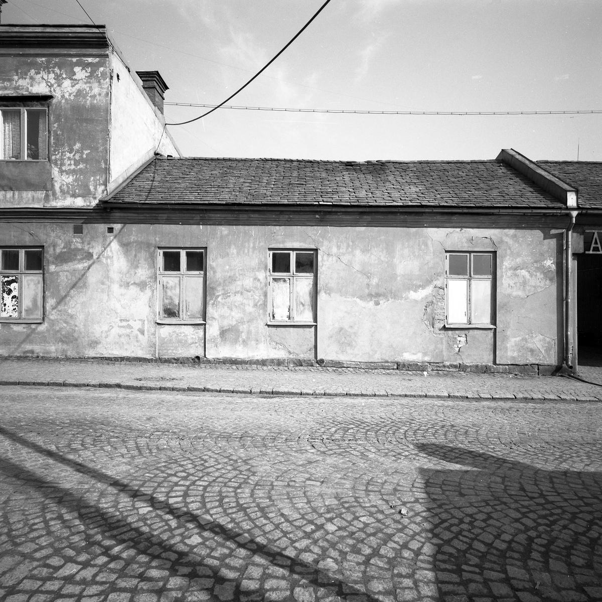 Dokumentation av kvarteret Bryggaren i Arvika som det såg ut i april 1959.
