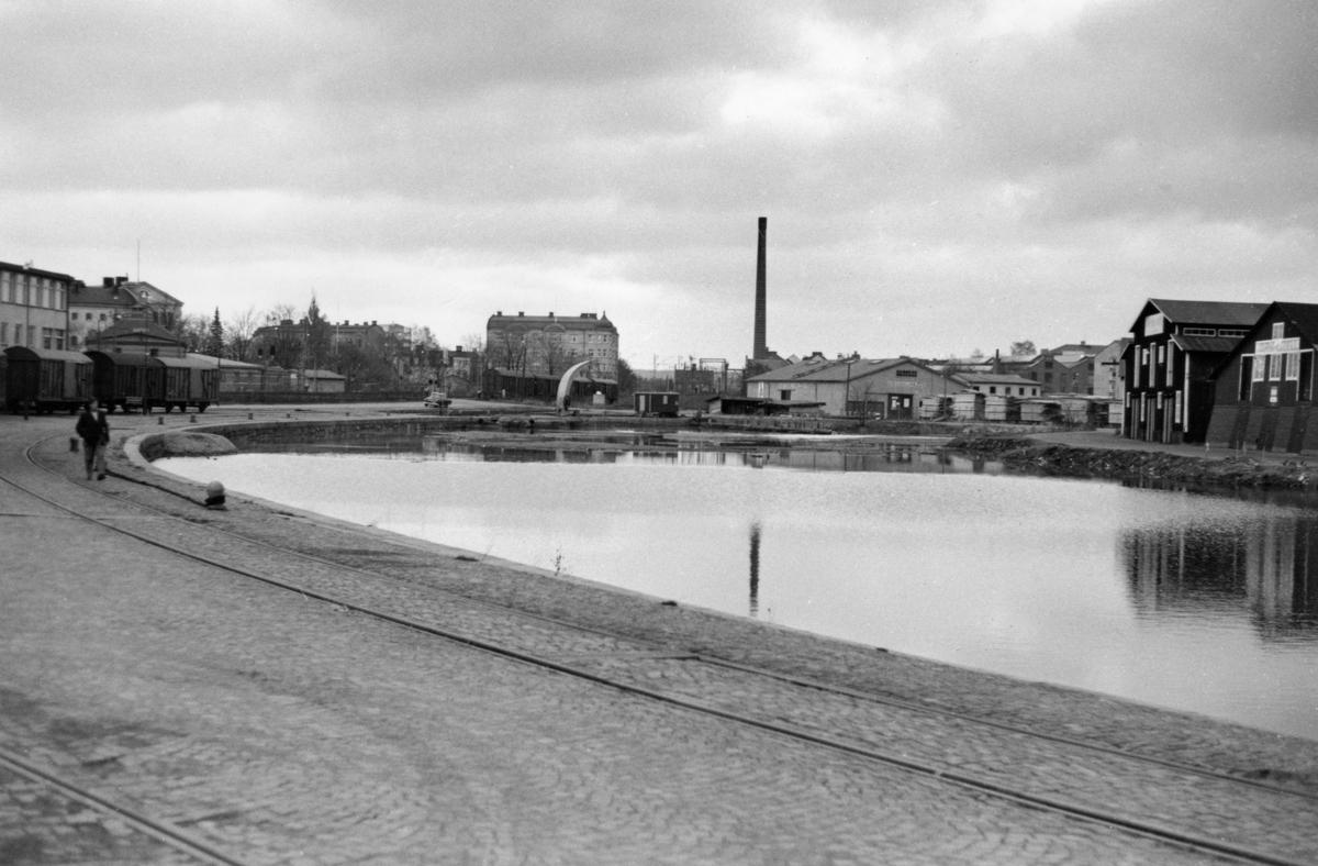 Den numera igenfyllda delen av Inre hamn den 16 oktober 1963.