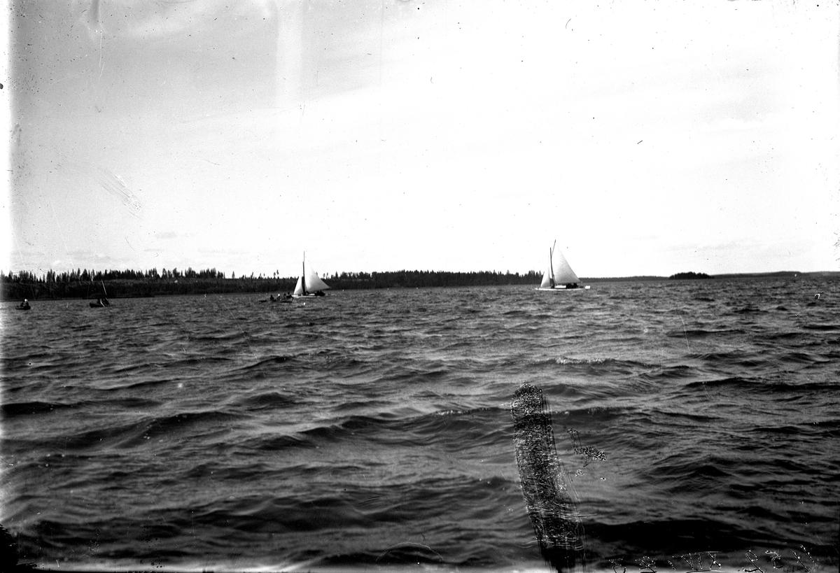 Kappsegling i Kungsör, 1921. Fotograf E Sörman?