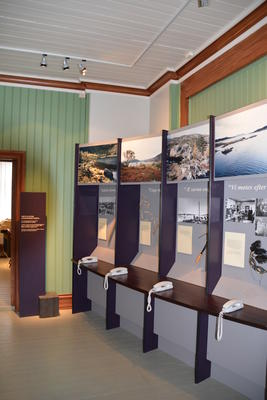 Telegrafstasjoner. Lødingen, Telemuseets utstilling (Foto/Photo)