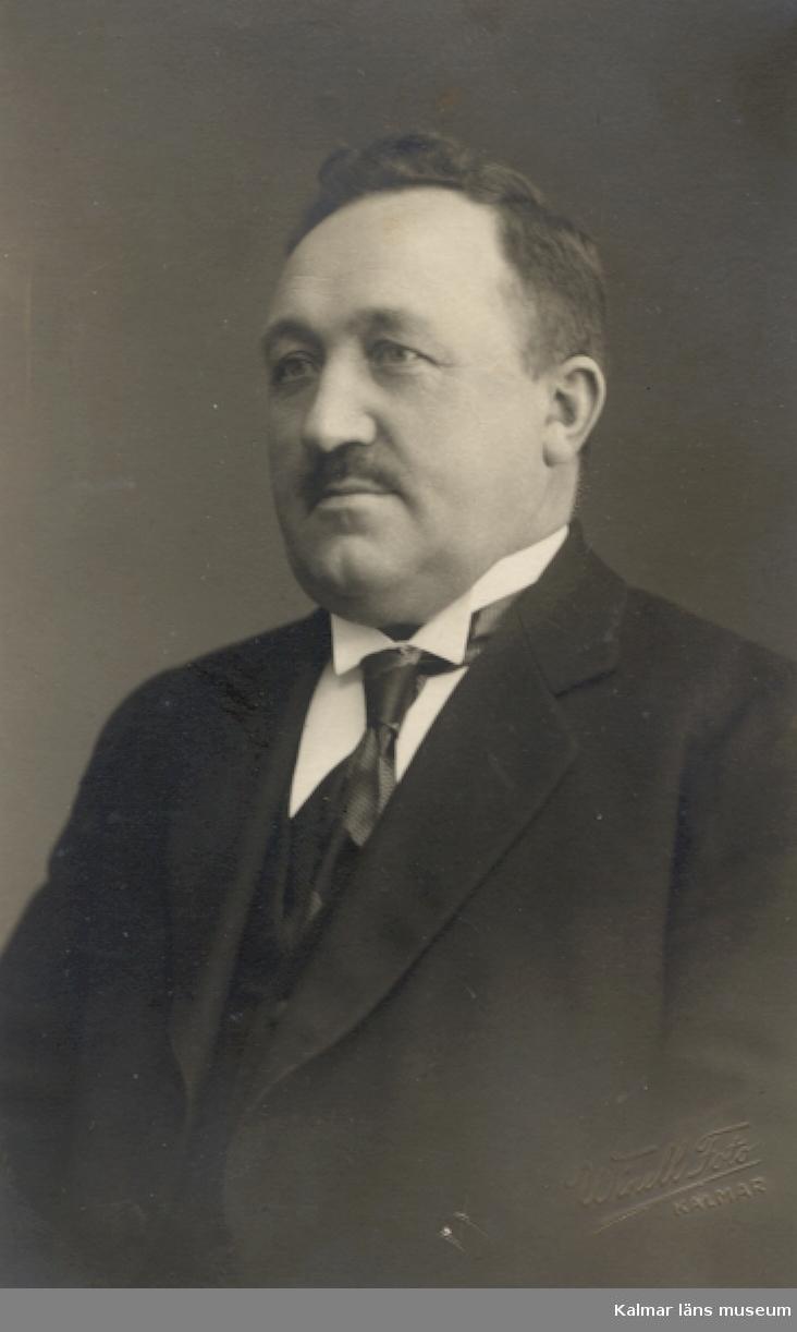 C.O. Wahlquist: Kapten, sjömanshusombudsman, Kalmar. Wahlquist var 41 år 1917.