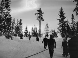 Fra Frognerseterbakken, julen 1907.