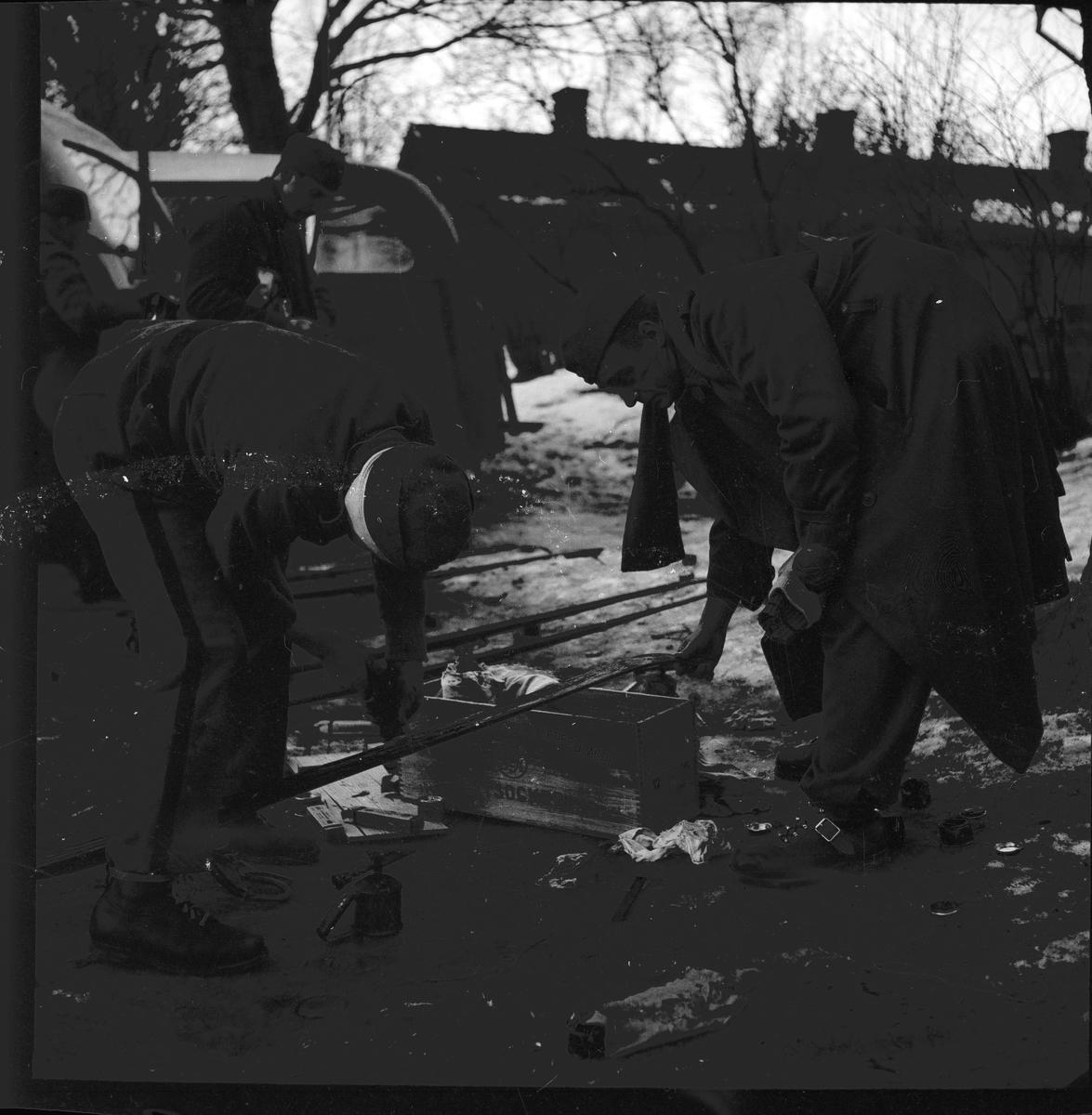 Officerarnas orienteringstävling. Februari 1939. Reportage för Gefle Posten