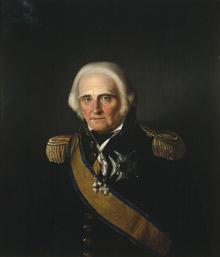 Portrett av Jens S. Fabricius. Mørk uniform, admiralsuniform. En orden festet på uniformen og to i bånd rundt halsen. (Foto/Photo)