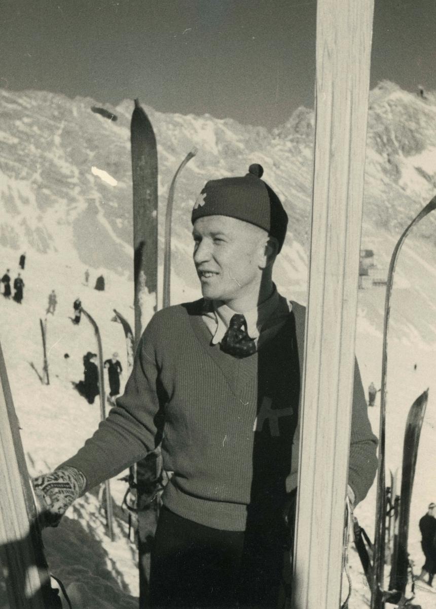 Athlete Birger Ruud at Garmisch