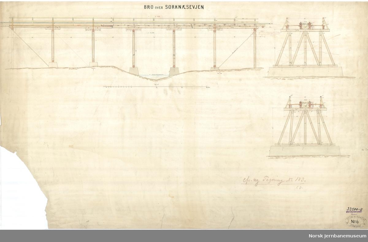 Bro over Sorknæsevjen cfr. ny Tegning No. 183