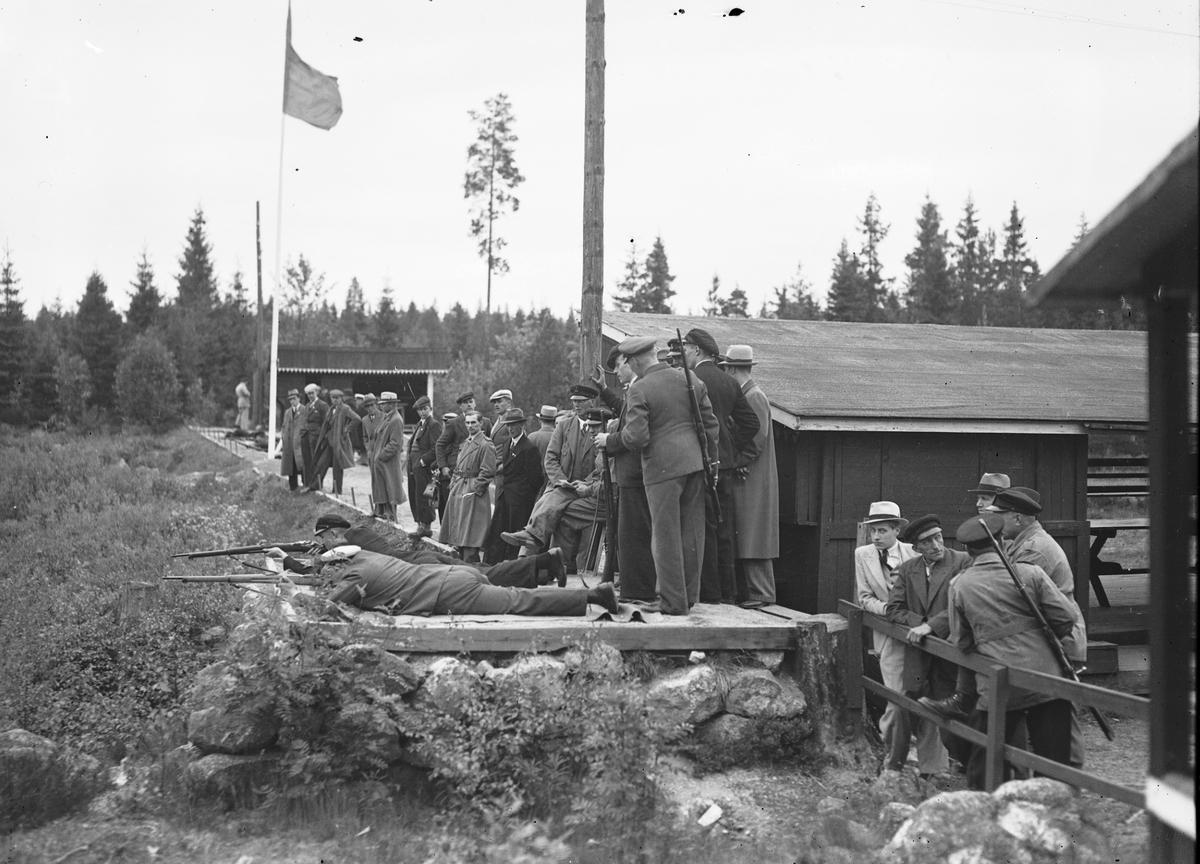 Skyttetävling i Rödjningen. Reportage för Gefle-Posten. Den  6 juni 1937.