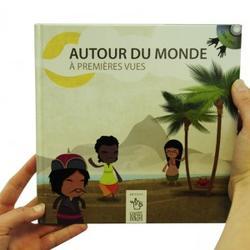 Bok med DVD, inneholder en visuell framstilling av ulike kulturer i verden. Uten tale og tegnspråk. kr: 300,-