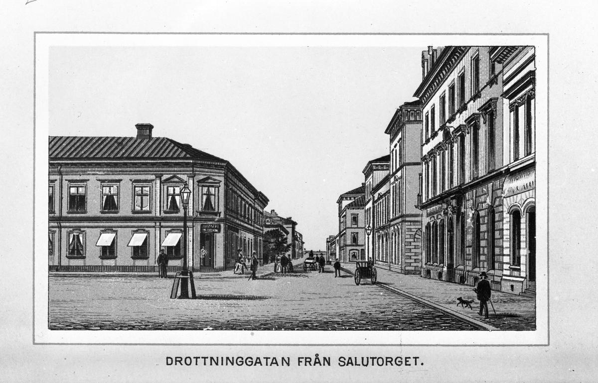 """""""Drottninggatan från Salutorget"""""""