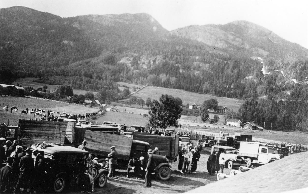 Utanfor dyrskufjoset 16. september 1936.