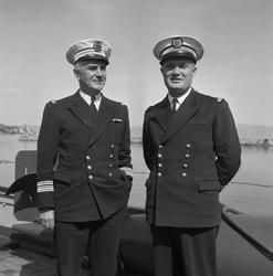 """Franske Fregatt """"Ailette"""" + Kapt. og mandskap"""