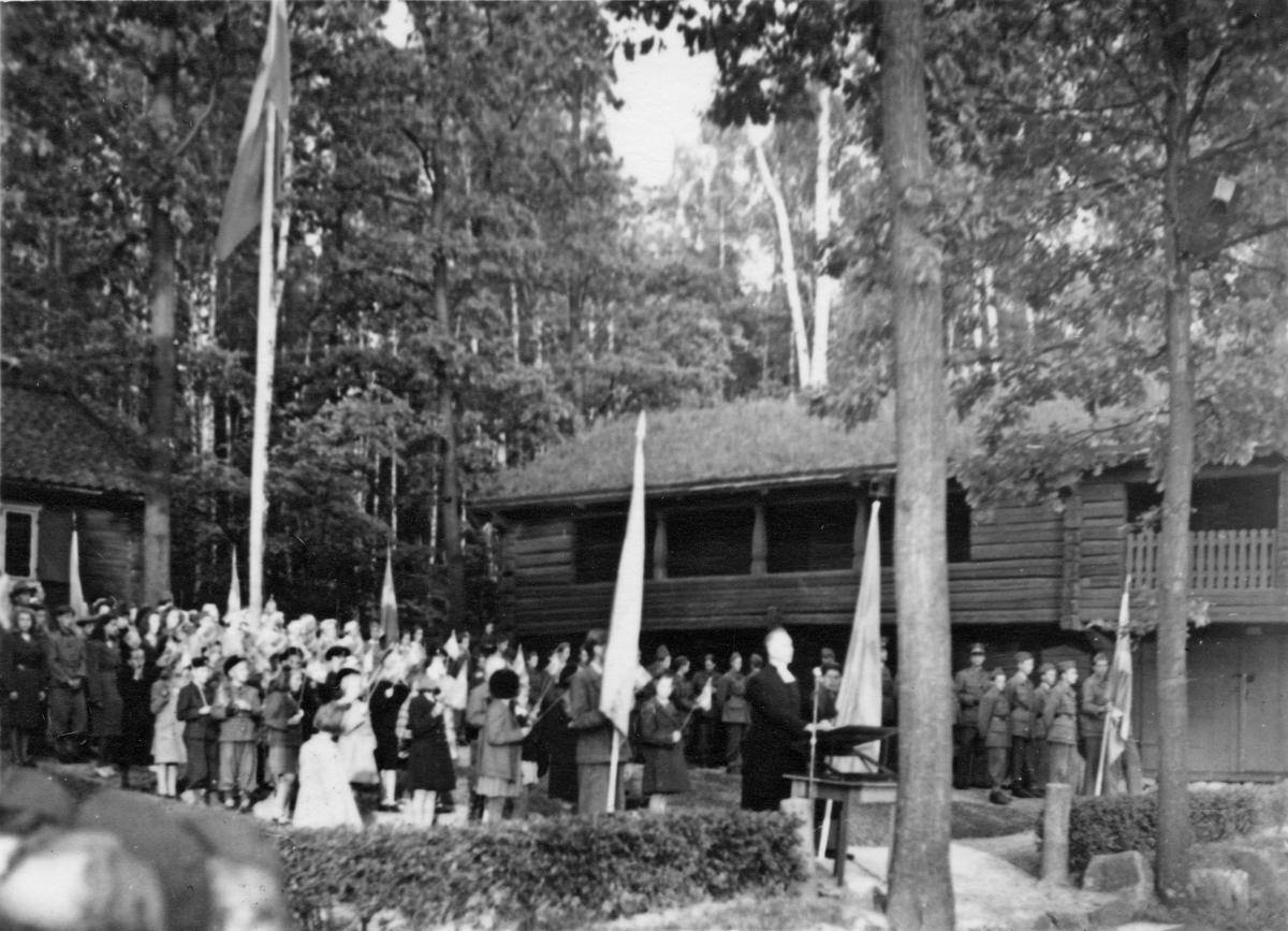Gammelgården, högtid 1945.