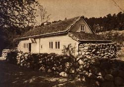 Postkort. Lendestovå fra Time på Jæren. Rogalandstunet, NF.