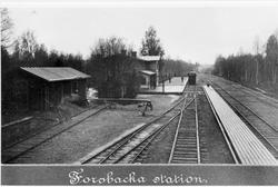 Forsbacka station omkring sekelskiftet