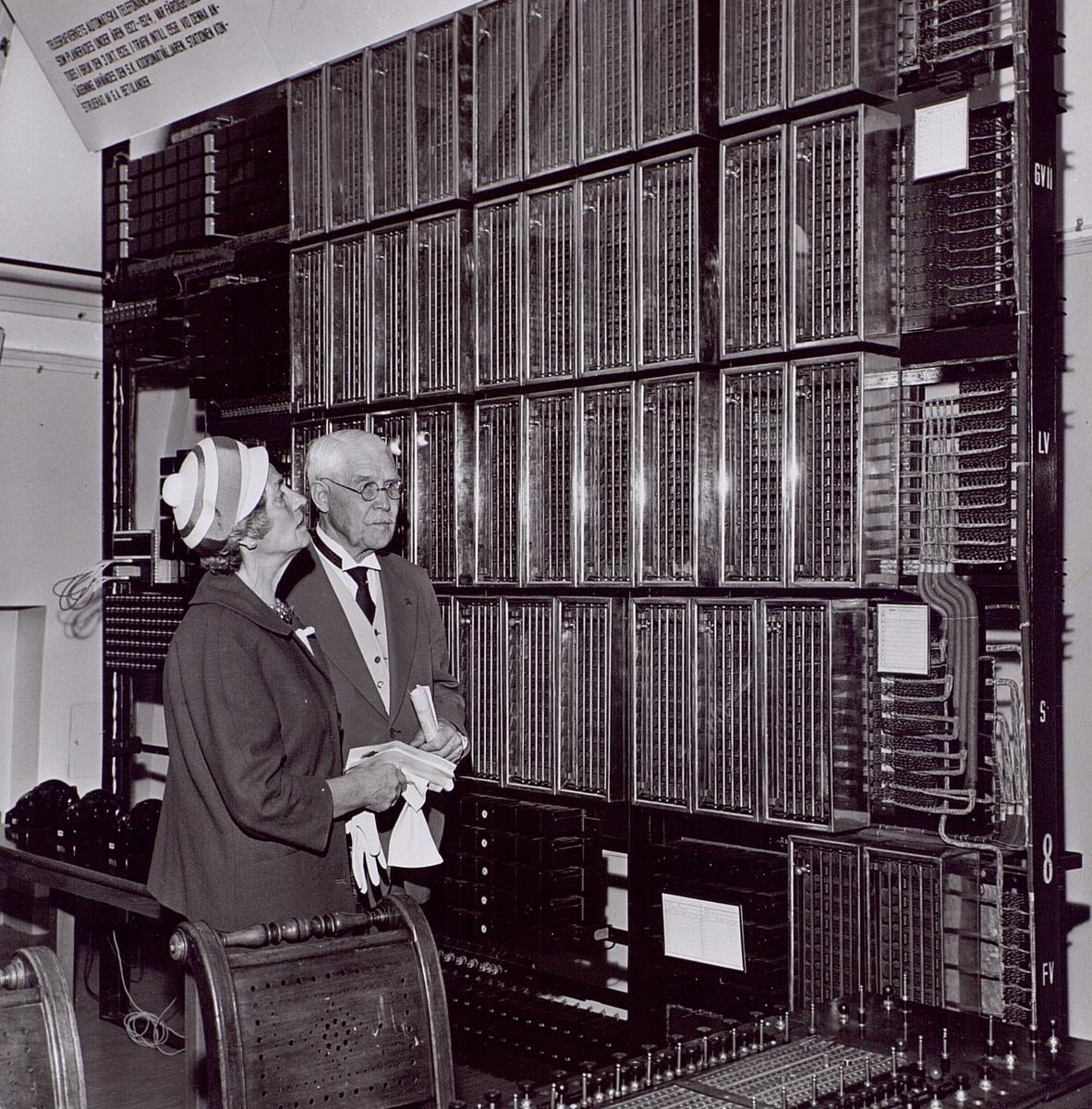 Telemuseums 25-årsjubileum 1962. Fru Betulander, Weman.