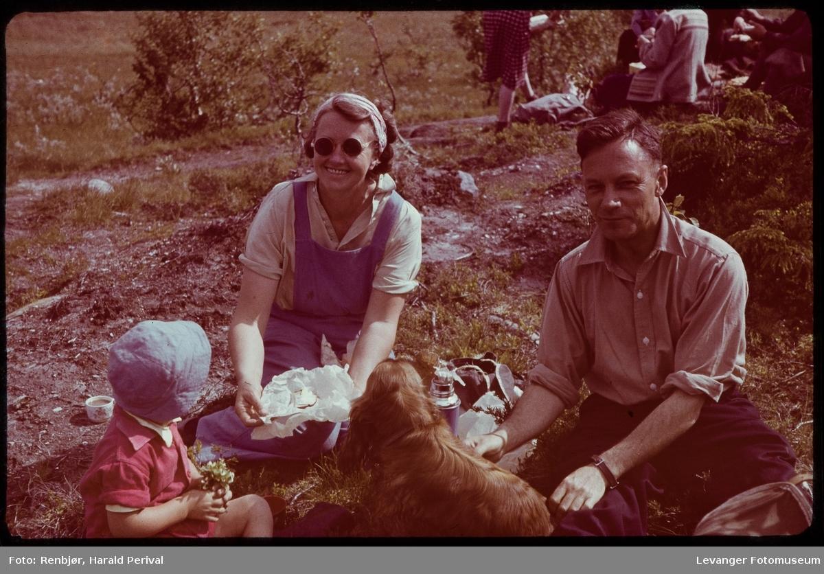 På fjelltur i regi av Kjøpmannsforeningen, familien Thurn-Paulsen.