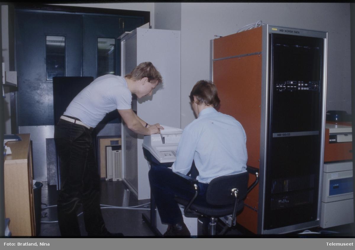 Datamaskin arbeidssituasjon Norsk Data