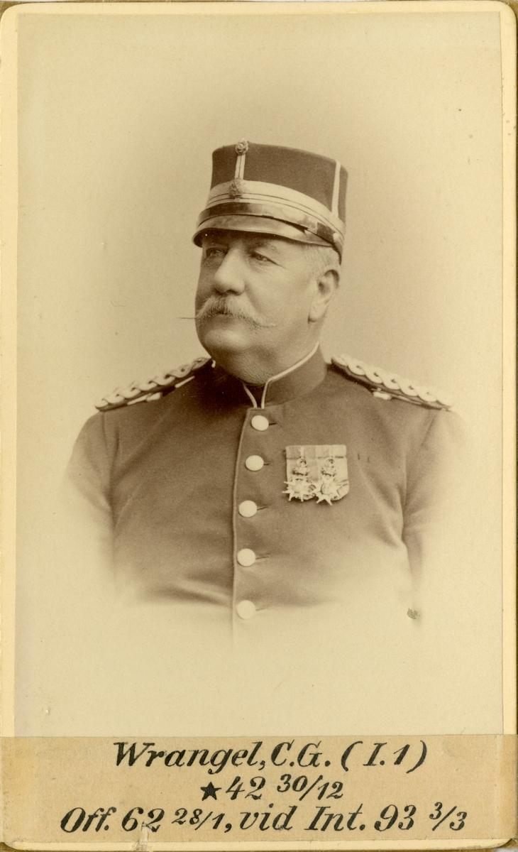 Porträtt av Carl Gustaf Wrangel, officer vid Svea livgardet I 1 och Intendenturkåren.