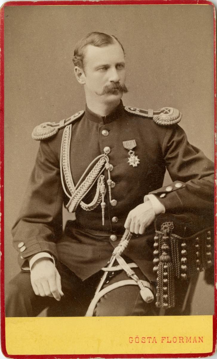 Porträtt av Johan Gustaf Wikander, överstelöjtnant vid Generalstaben.