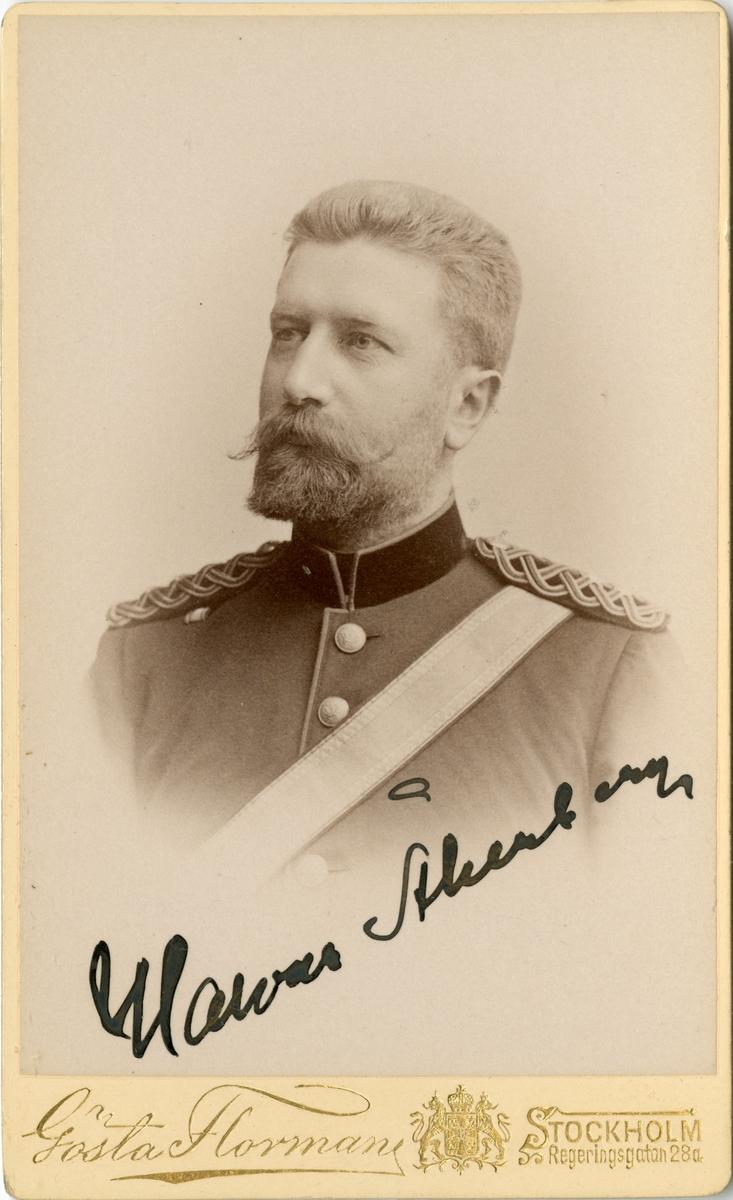 Porträtt av Johan Halvar Åkerberg, bataljonsläkare vid Södermanlands regemente I 10.