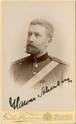 Porträtt av Johan Halvar Åkerberg, bataljonsläkare vid Söder
