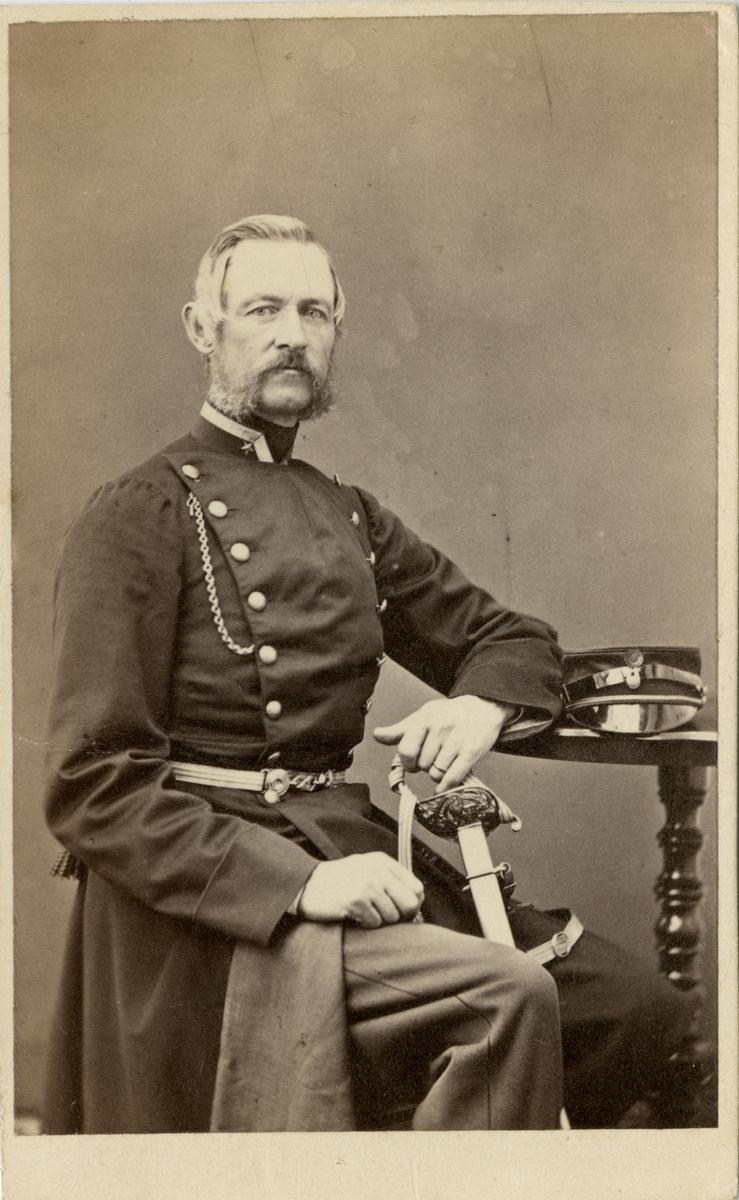 Porträtt av major Oskar Erik Ferdinand Fleming af Liebelitz.