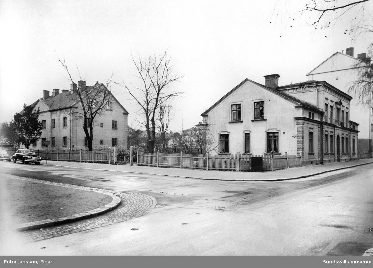 Borgarhemmet byggt på initiativ från Sundsvalls Stads Fabriks- och Hantverksförening, färdigt 1902 rivet omkr 1948.