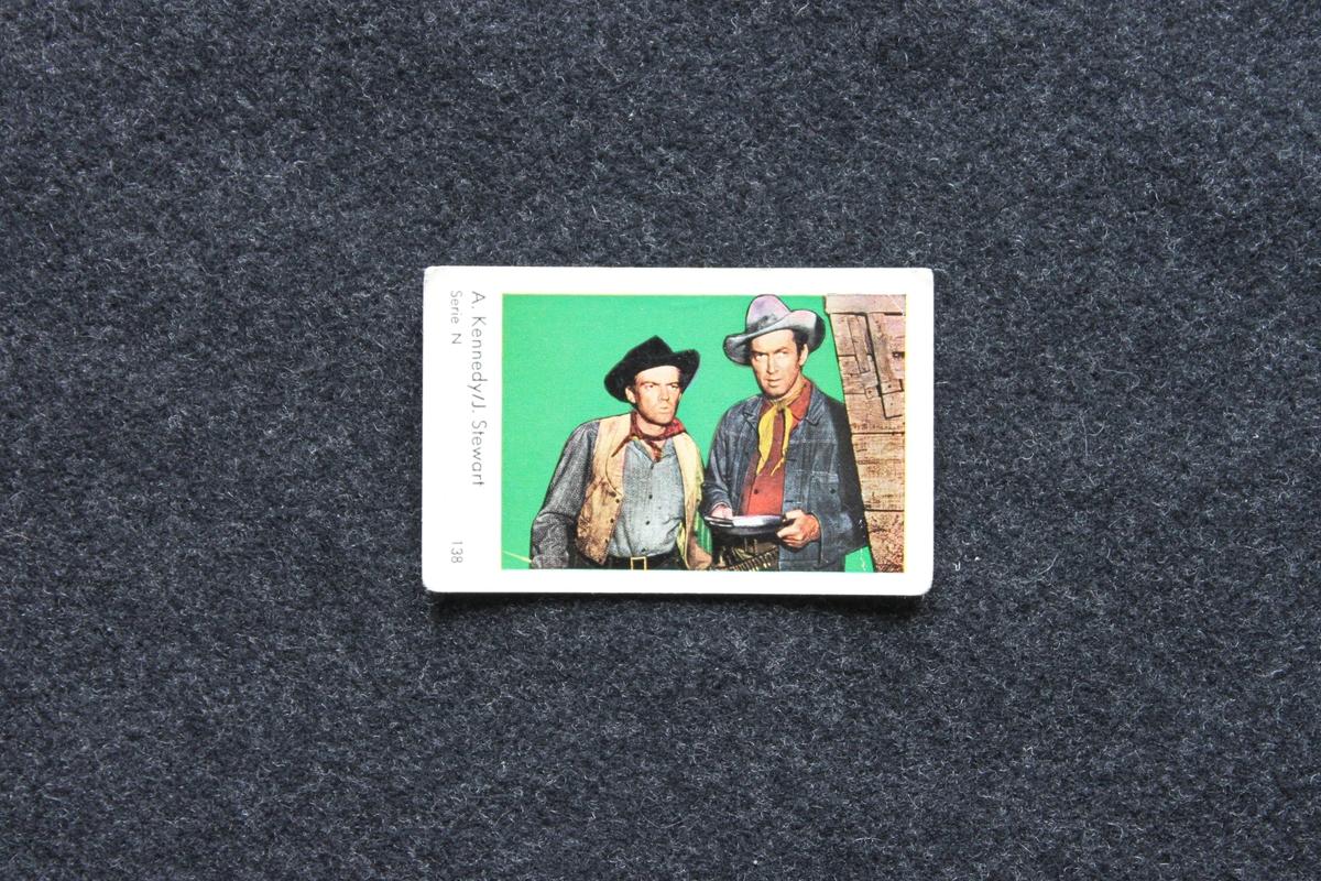 Filmstjärnebild med foto föreställande A. Kennedy och J. Stewart