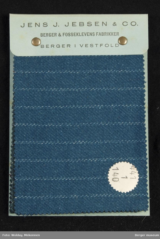 Prøvebok med 8  prøver Drakt/kjole med striper Kvalitet  441 Stykkfarget