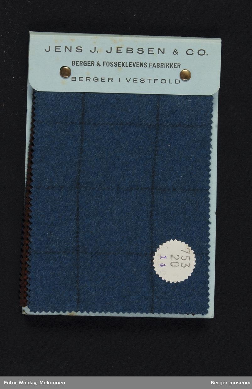 Prøvebok med 6 prøver Flanell Stykkfarget Kval. 753