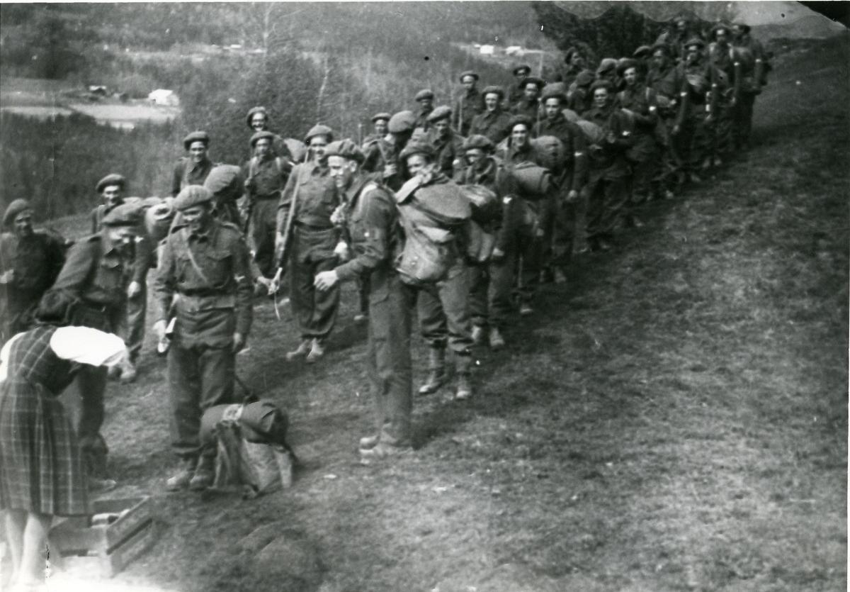 Heimefrontsoldatar i Hedalen, våren 1945.