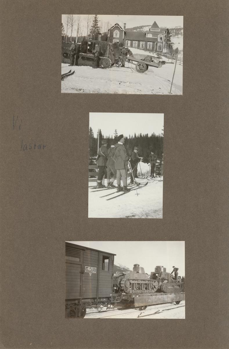 En grupp soldater på skidor.