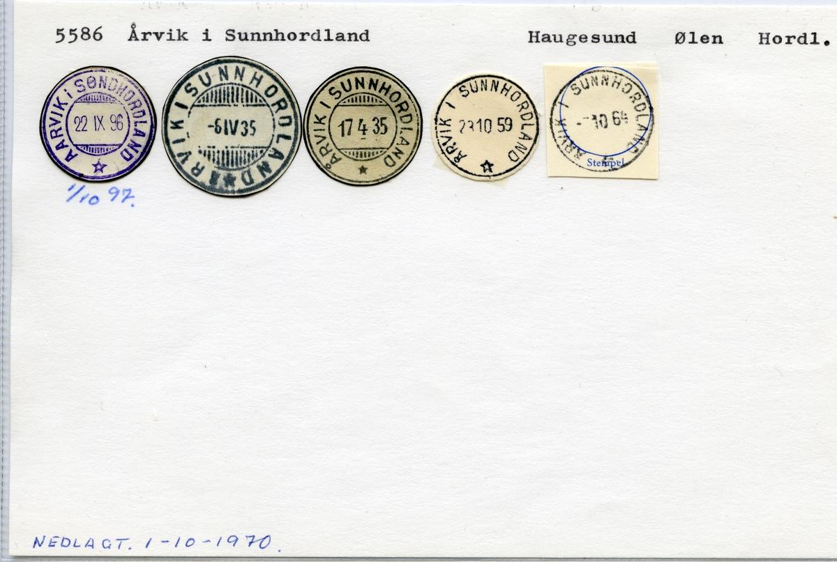 5586 Årvik i Sunnhordland (Aarvik i Sunnhordland), Haugesund, Ølen, Hordaland