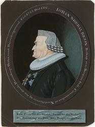 Portrett av Johan Nordal  Bruun [portrett ]