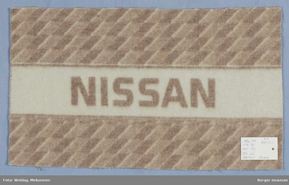 Bilpledd Små romber Logo Nissan
