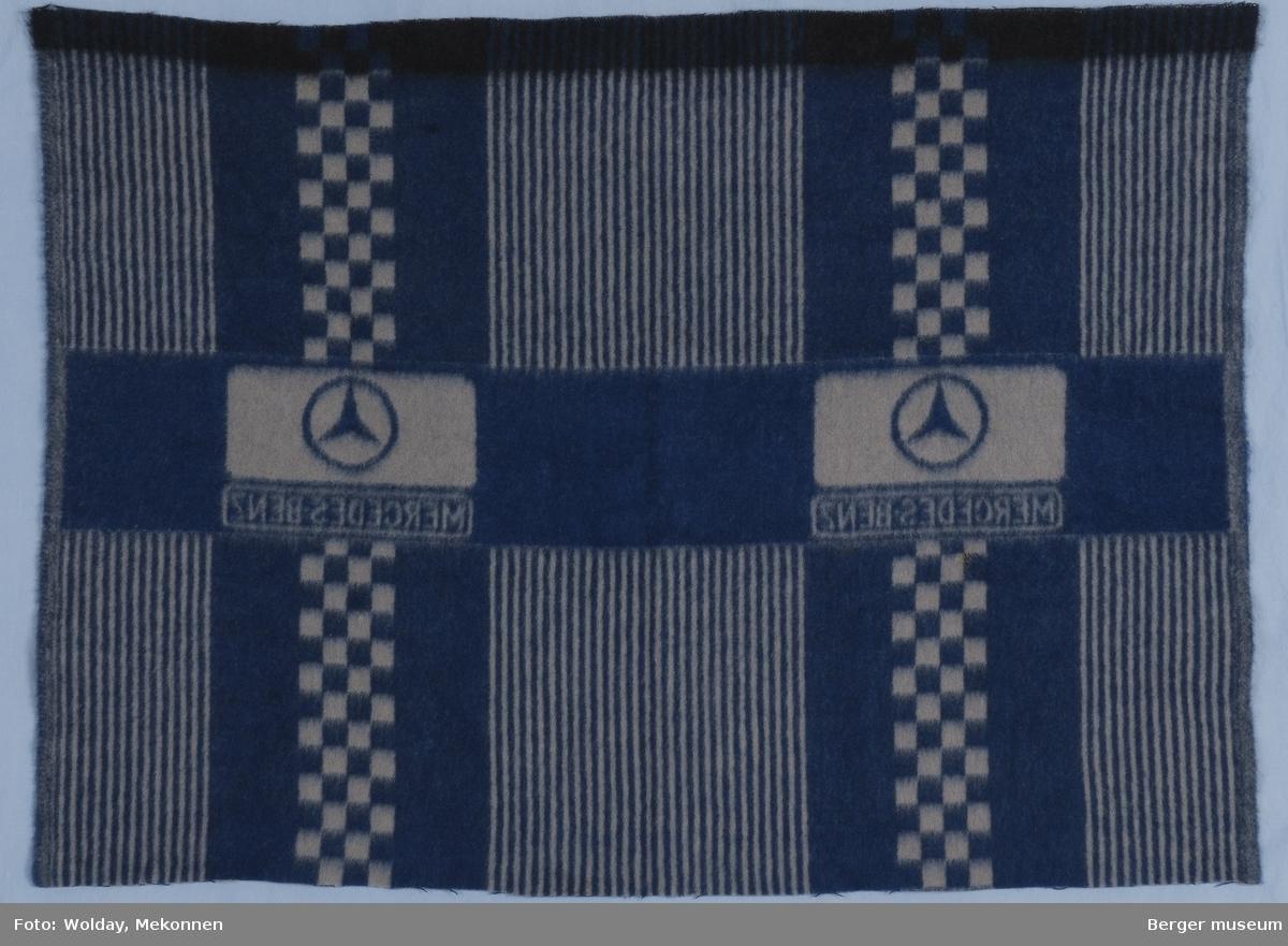 Bilpledd Striper og kvadrater Logo Mercedes Benz (symnbol + tekst)