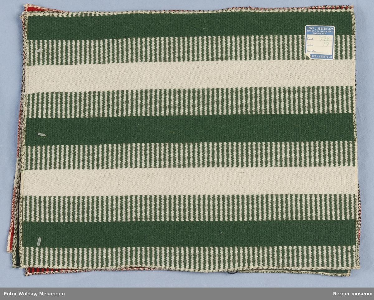 Møbelstoff 4 prøver Tverrstripet - brede striper